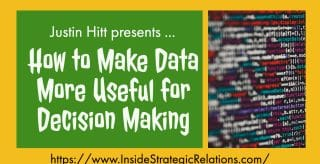 Making Data Useful for Decision Making