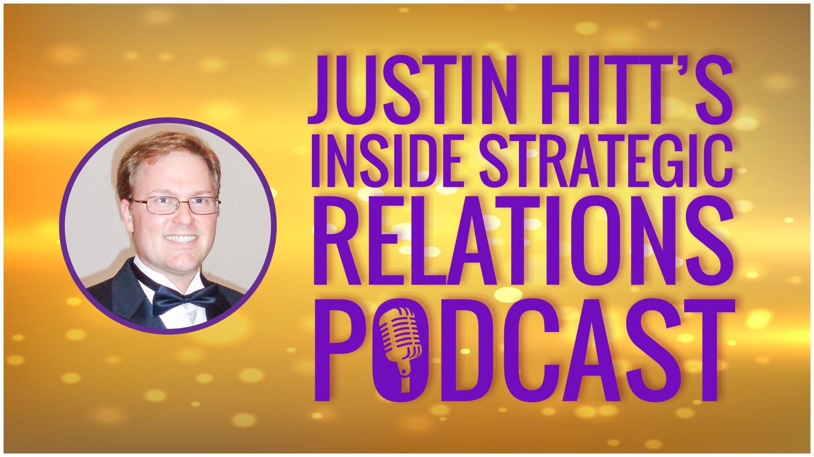 Logo, Justin Hitt's Inside Strategic Relations Podcast